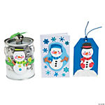 Snowman Self Adhesive Shapes