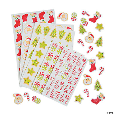 Self-Adhesive Glittering Christmas Shapes