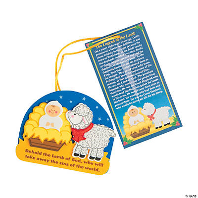 """The Legend of the Lamb"" Christmas Ornament Craft Kit"