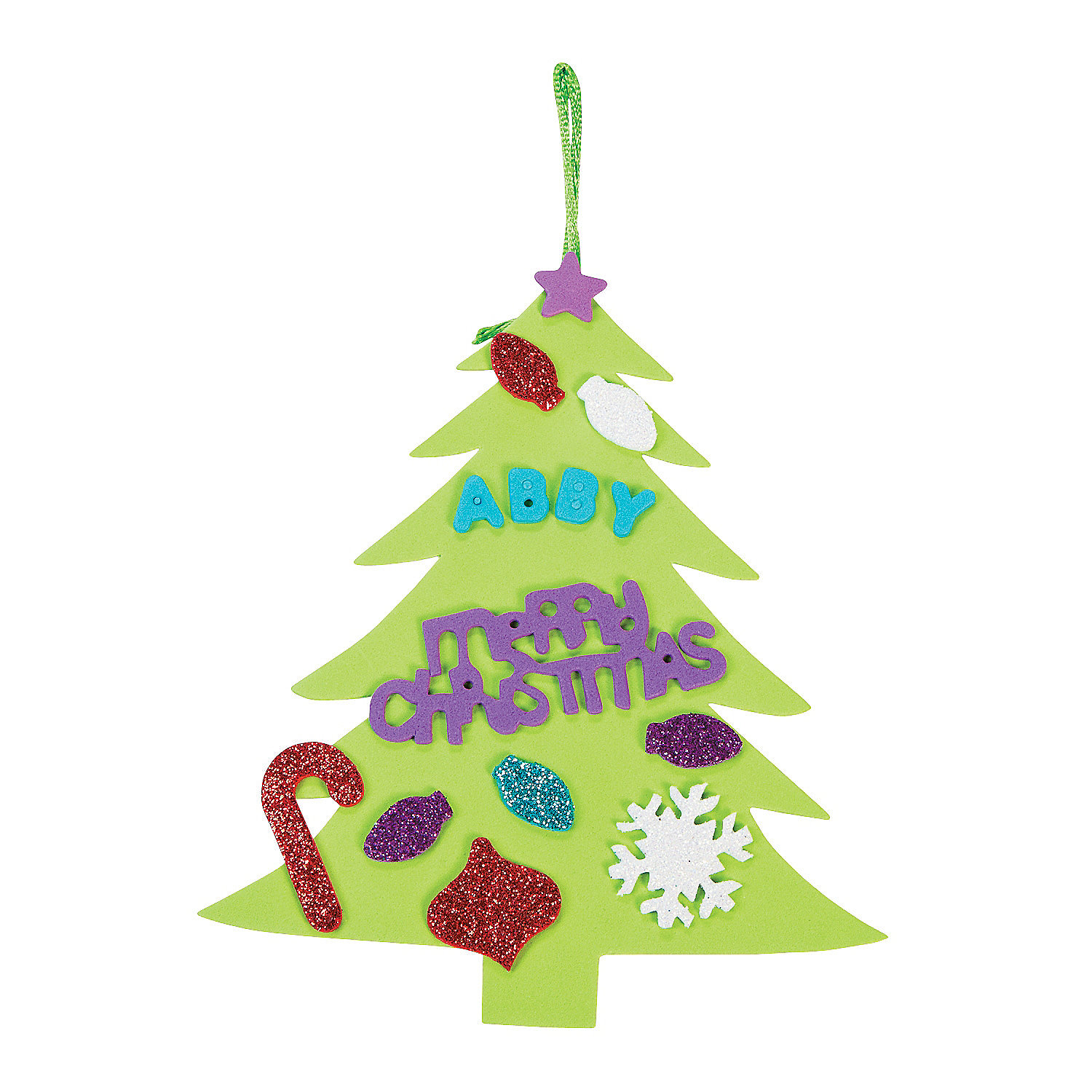 Christmas Tree Ornament Craft Kit - Oriental Trading - Discontinued