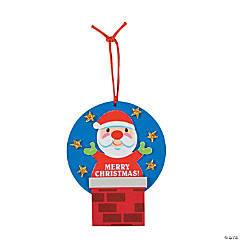 """Merry Christmas"" Santa Ornament Craft Kit"