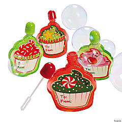 Holiday Cupcake Bubble Bottles
