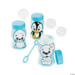 Winter Animal Bubble Bottles
