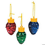 Light Bulb Christmas Ornament Craft Kit