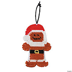 Santa Gingerbread Stitch Christmas Ornament Craft Kit