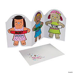 Color Your Own Gingerbread Christmas Cards