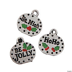 Holly with Berries Charms
