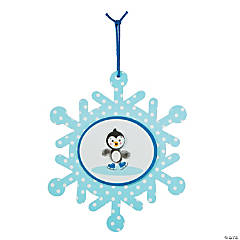 Ice Skating Penguin Thumbprint Ornament Craft Kit
