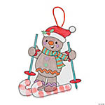 Gingerbread on Skis Thumbprint Christmas Craft Kit
