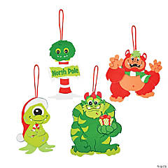 Merry Monster Christmas Ornament Craft Kit