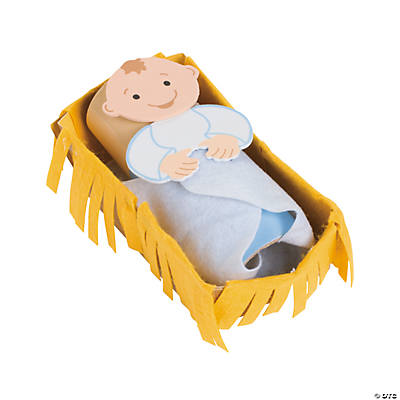 Baby Jesus in A Manger Craft Kit