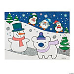 Color Your Own Winter Glitter Posters