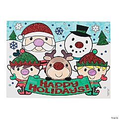 Color Your Own Christmas Glitter Posters