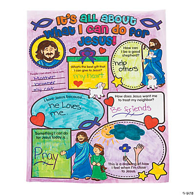 "Color Your Own ""It's All About What I Can Do For Jesus"" Posters"