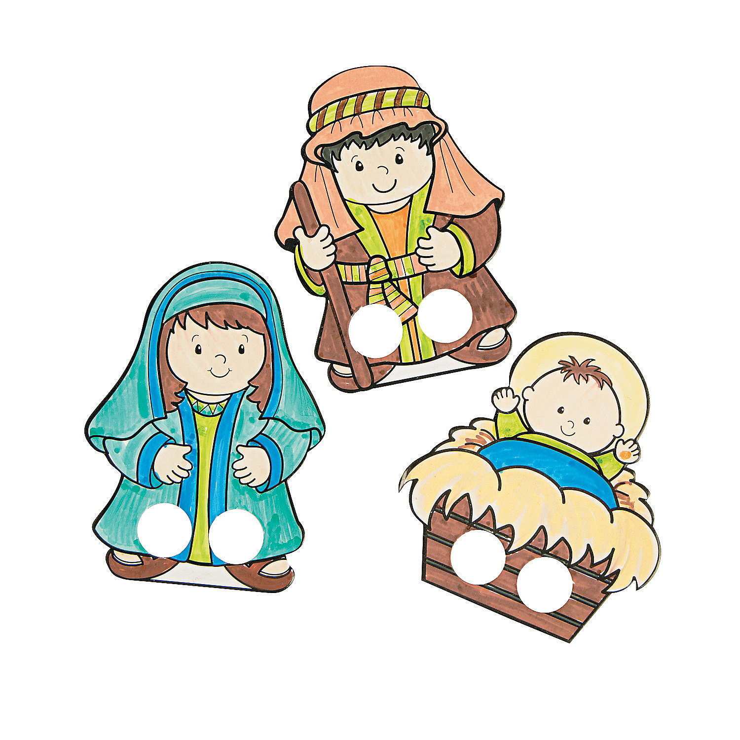 Coloring Finger Puppets Color Your Own Nativity Finger