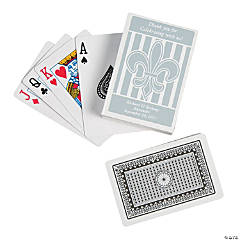 Paper Personalized Fleur De Lis Playing Cards