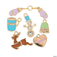Winter Enamel Charms