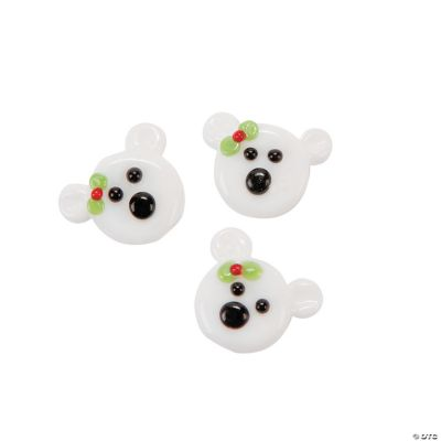 Polar Bear Lampwork Charms