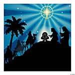Silhouette Nativity Backdrop Banner