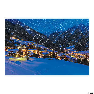 Snow Village Backdrop Banner Backdrops Amp Scene Setters