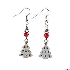 Rhinestone Christmas Tree Earring Craft Kit