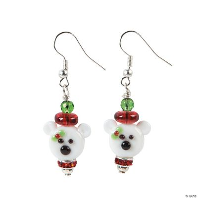 Polar Bear Lampwork Earring Craft Kit