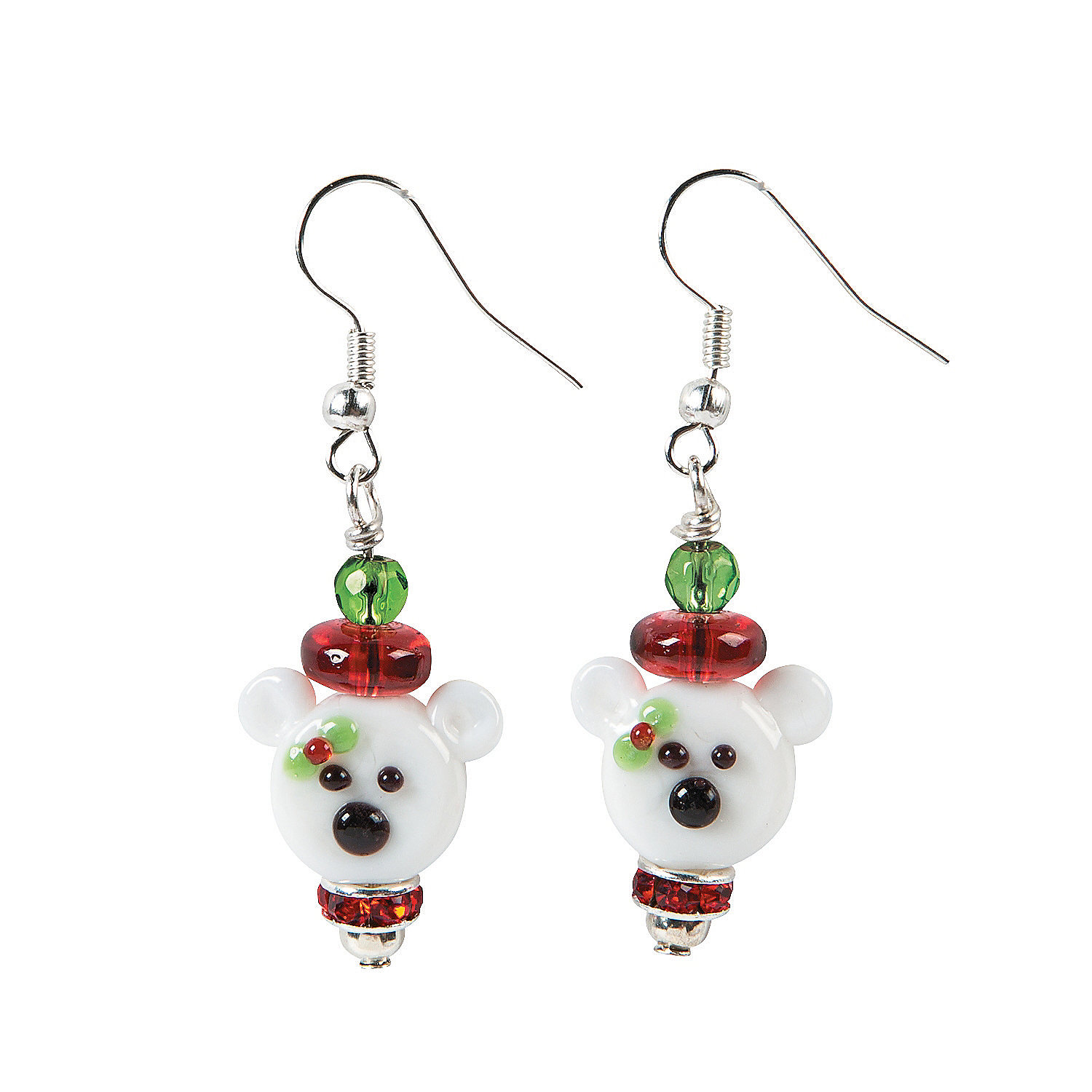 Polar bear lampwork earring craft kit jewelry crafts for Craft and jewelry supplies