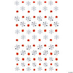 Red & White Snowflake String Decoration