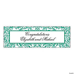 Personalized Emerald Medium Swirl Banner