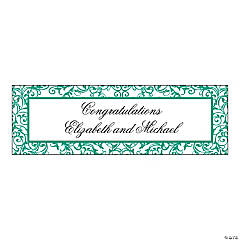 Personalized Small Emerald Swirl Banner