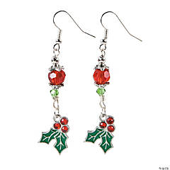 Holly Berry Enamel Earrings Craft Kit