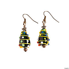 Colorful Christmas Tree Lampwork Earring Craft Kit