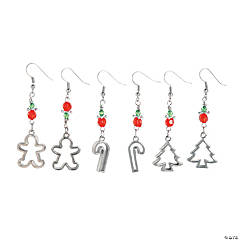 Silvertone Cookie Cutter Earrings Craft Kit