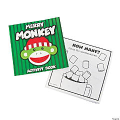 Sock Monkey Christmas Activity Books