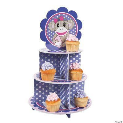Miss Sock Monkey Cupcake Holder