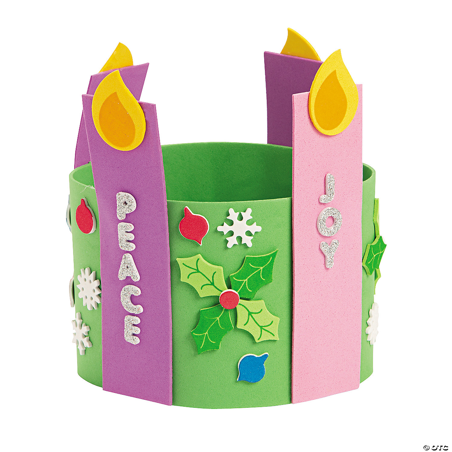 Advent Candle Stand Up Wreath Decoration Crafts Crafts for Kids WBTuUNpc
