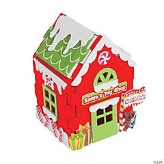 3D Santa's Toy Shop Christmas Craft Kit