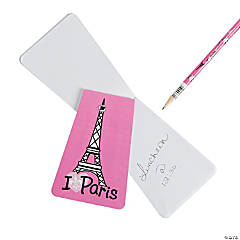 Eiffel Tower Notepads with Gem