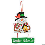 Winter Welcome Sign Craft Kit