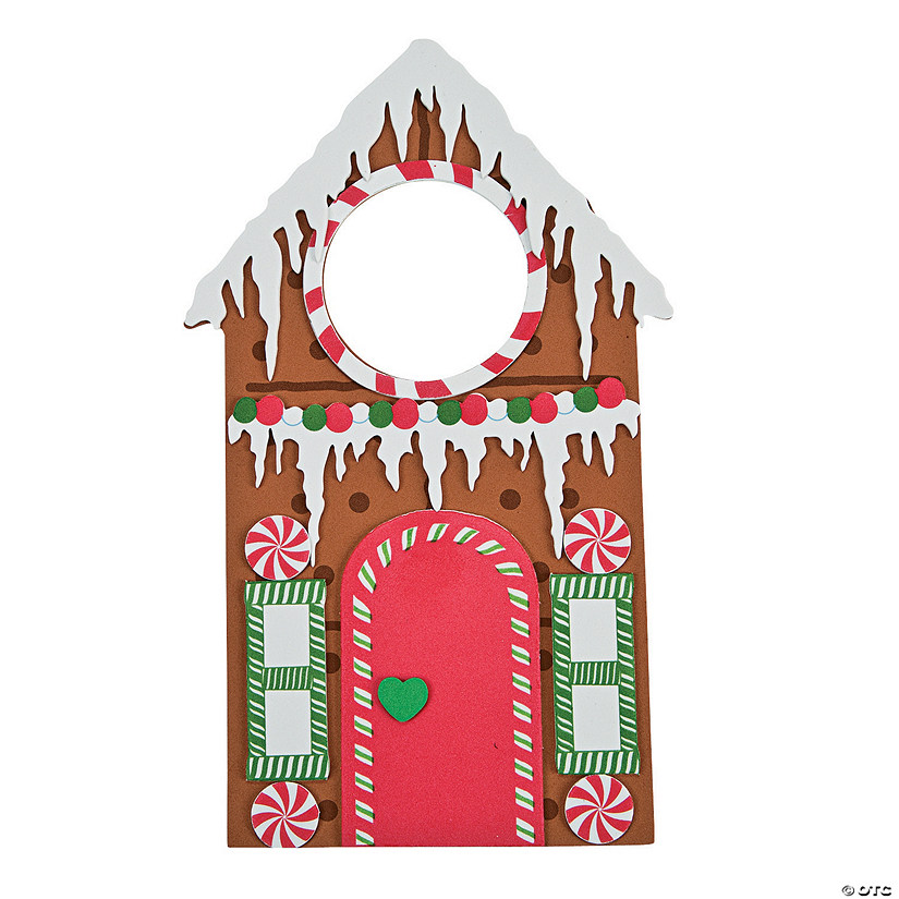 sc 1 st  Oriental Trading & Gingerbread Doorknob Hanger Craft Kit