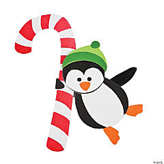 Candy Cane Penguin Doorknob Hanger Christmas Craft Kit