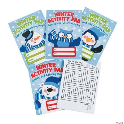 """""""Winter Activity Pads"""" with """"To/From"""" Labels"""