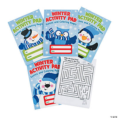 """Winter Activity Pads"" with ""To/From"" Labels"