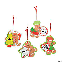 Foam Gingerbread Character Christmas Ornament Craft Kit