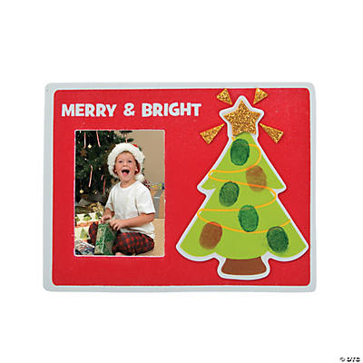 Thumbprint Christmas Picture Frame Ornament Craft Kit