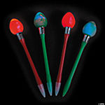 Light-Up Christmas Bulb Pens