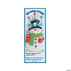 """Colors of Faith"" Snowman Ornaments on Card"
