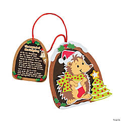 """The Legend of the Hedgehog"" Christmas Ornament Craft Kit"