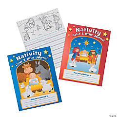 """Nativity"" Color & Write Journals"