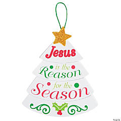 """Jesus Is the Reason"" Sign Christmas Craft Kit"